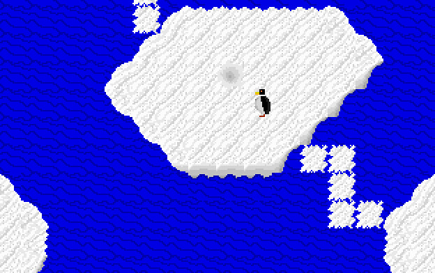 Joan Stone's Penguin Pete, a demo game distributed with Recreational Software Designs' Game-Maker