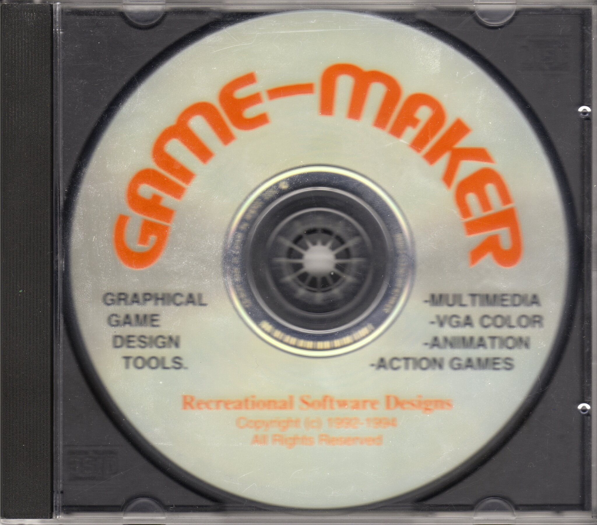 Graphical game design tools. Multimedia! VGA color! Animation! Action games!