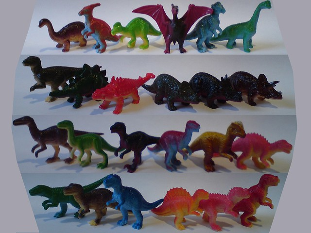 Dinosaurs Toys Collection : Small mini dinosaurs plastic pvc toys jp full