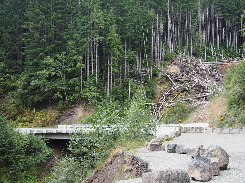 NF Development Road 25 Bridge Over Landslide: This was recently built after the landslide.