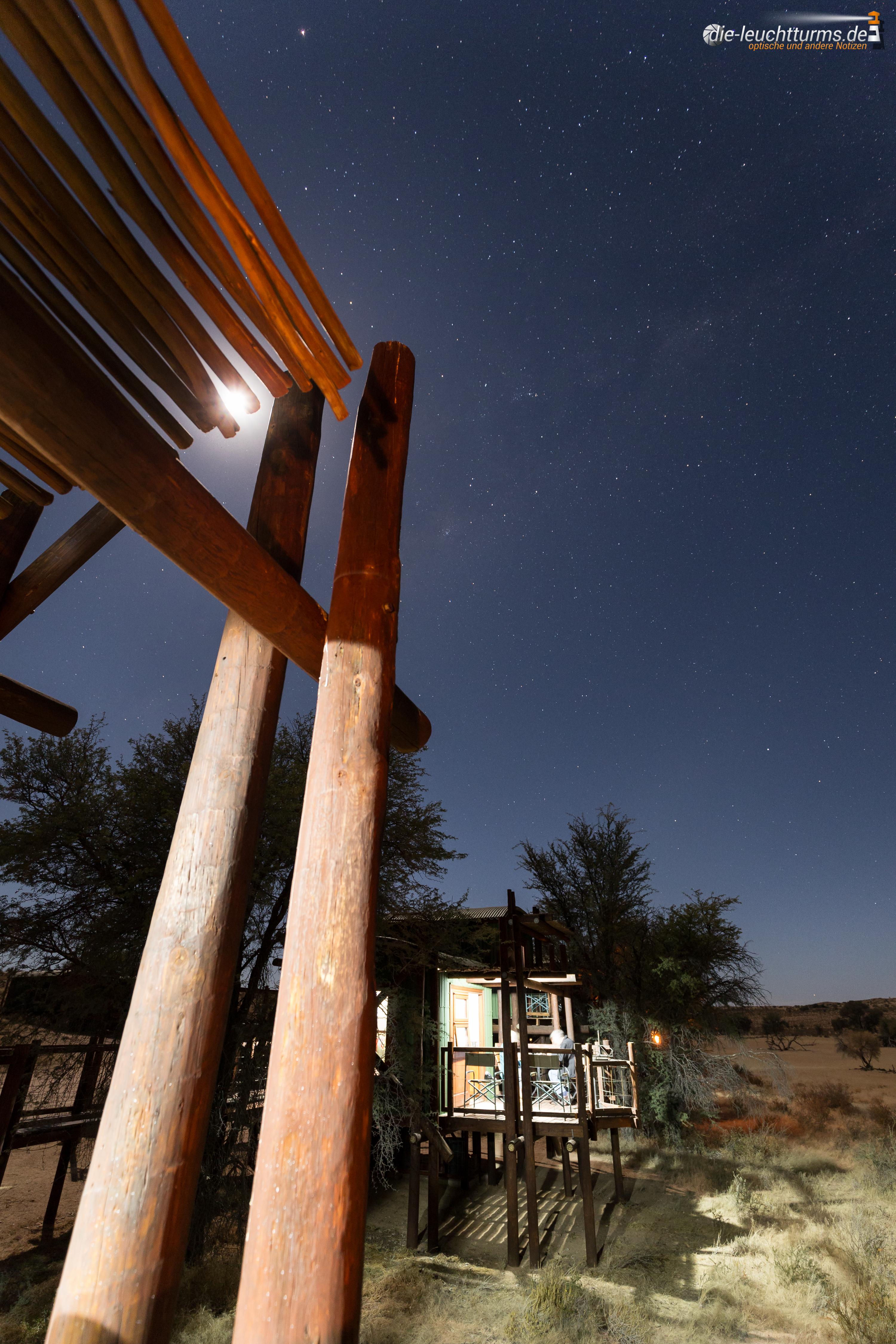 Moon above Urikaruus Wilderness Camp