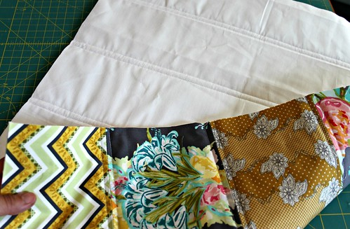 finished pillow top and back