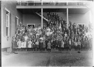 Cherryville Graded School. These are the children in the town who attend school, November 1908