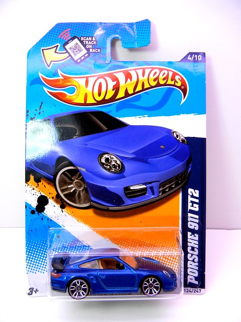 hot wheels porsche 911 gt2 blue 1 flickr photo sharing. Black Bedroom Furniture Sets. Home Design Ideas