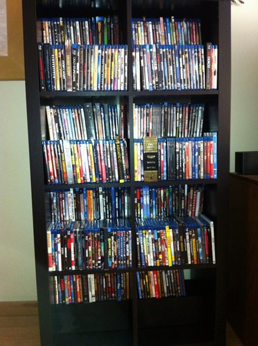 And Finally With All The Blu Rays Added In Alphabetical Order Not A Ton Of Room For Growth But I Have Another Bookcase Im Considering Doing Same