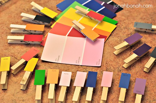 Preschool Paint Chip Activity