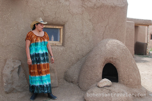 our tour guide at Taos Pueblo