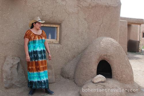 our tour guide at Taos Pueblo