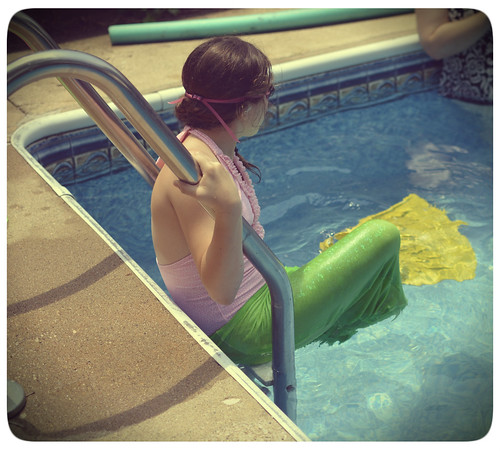 DIY Mermaid Tail - Putting it on. jpg