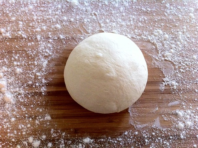 Pizza Dough Shaped into a Ball