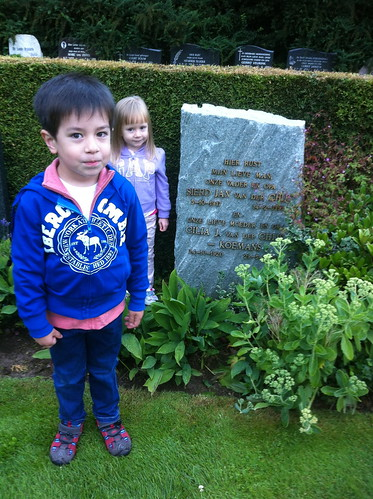 Scott and Elaine at my grandparents' grave