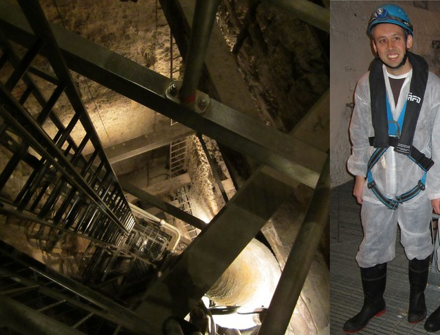 Shaft inside Fremantle prison (and my very handsome safety gear)