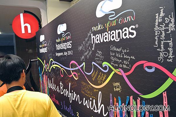 Havaianas Singapore 50th Birthday wall