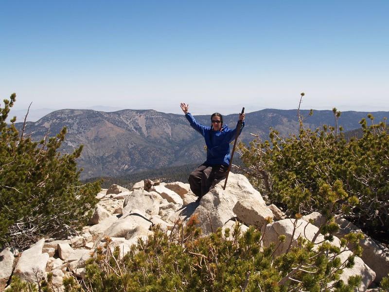 Vicki on the summit of Jepson Peak