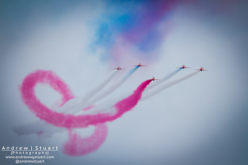 Red Arrows make the Infinity sign
