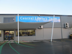 The front of the library
