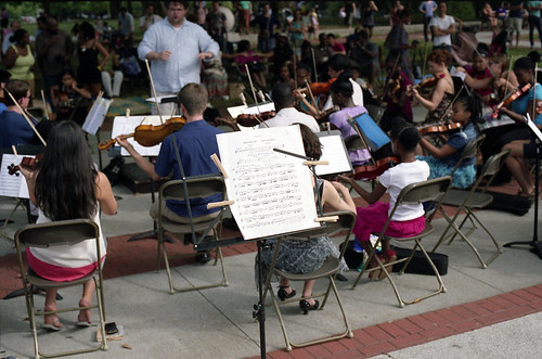 The String Orchestra of Brooklyn, Fort Greene Park, Brooklyn, July 21, 2012