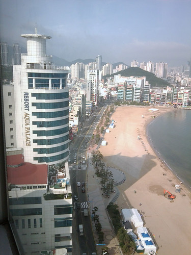 The beach from Hotel Homers, Busan