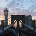 Brooklyn Bridge & 1 World Trade Center at Sunset