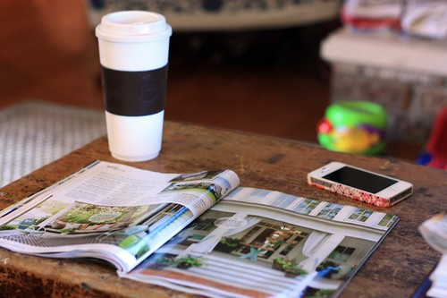coffee + magazine