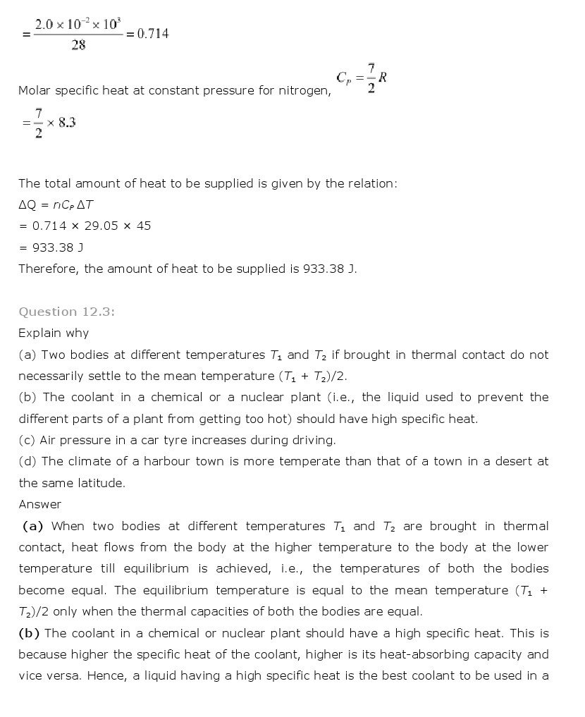 ncert solutions for class 11th physics chapter 12 thermodynamics ncert solutions for class 11th physics chapter 12 thermodynamics