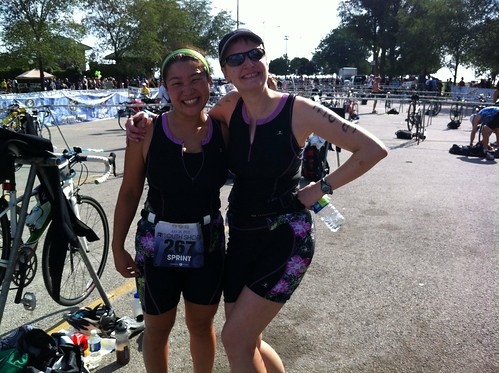 Erica and her Tri Suit Twin