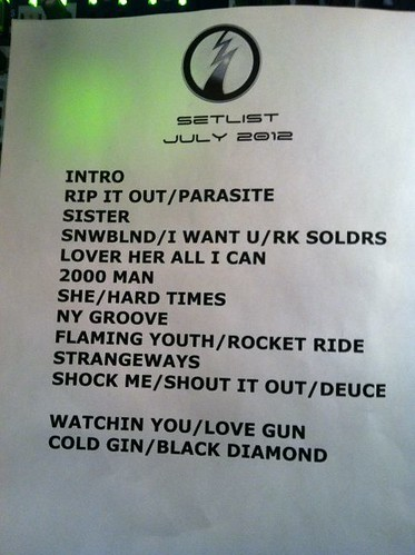 07-11-12 Ace Frehley @ Best Buy Theater, NYC, NY (Setlist)