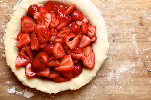 gluten-free strawberry ginger pie!