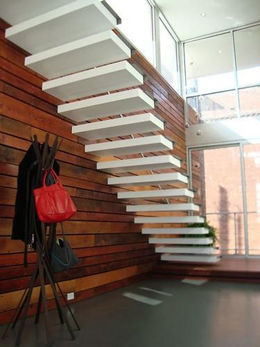 Escaleras minimalistas elegancia y modernidad para tu casa - Escaleras diseno interior ...