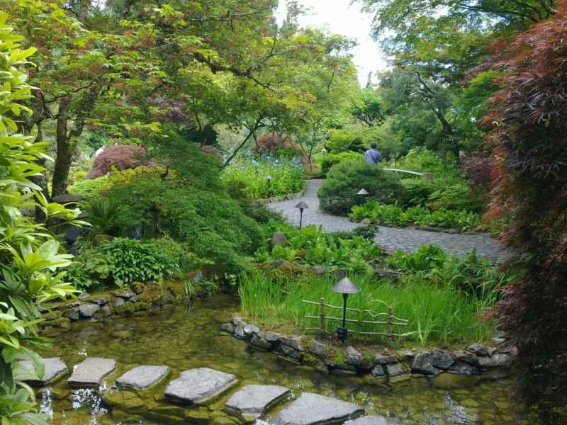 Japanese garden en jardines Butchart Canada 35