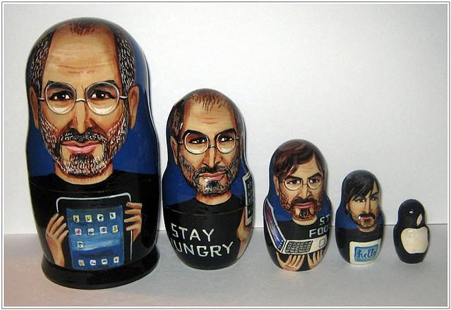 Steve Jobs Nesting Dolls