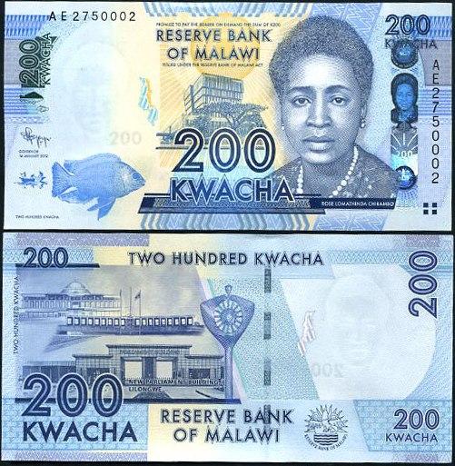 200 Kwacha Malawi 2012