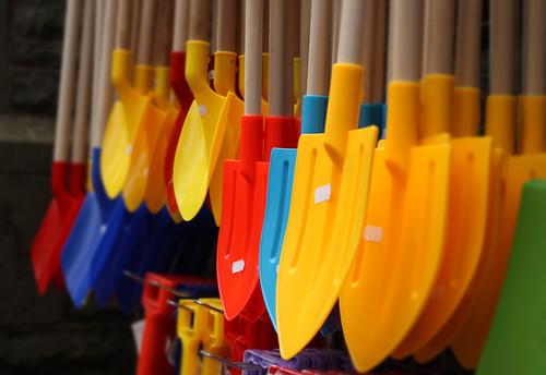 beach spades by Helen in Wales