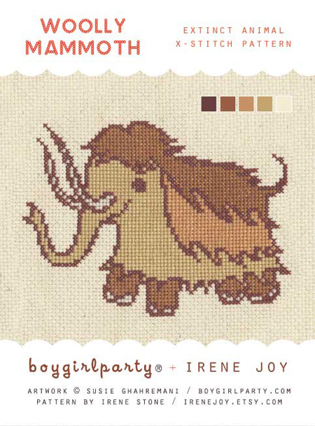 woolly mammoth pattern