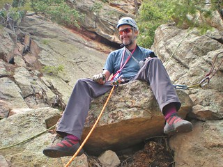 Andy Found a Nice Belay Block!