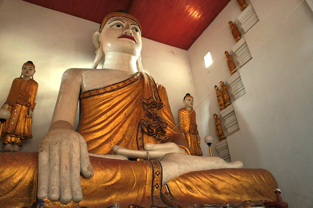 Beautiful Buddha hidden in a Wat
