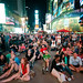 Mars Curiosity Rover Landing Broadcast at Times Square, Earth