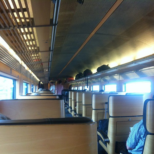 Wood paneled, 1-2 seated, ICE second class makes my TGV experience of a week ago look decidedly shabby