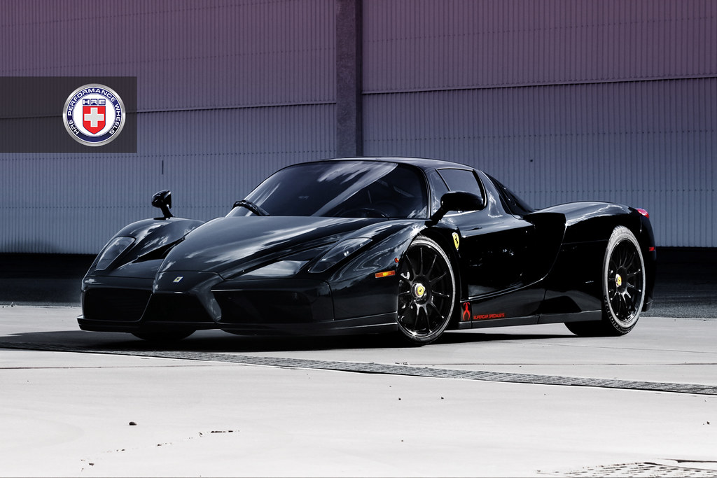 the rising knight ferrari enzo with a set of hre p43s centerlock - Ferrari Enzo Black Rims