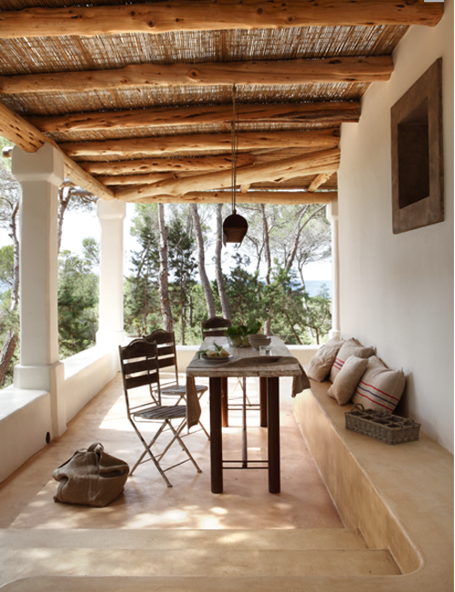 A modern rustic home on formentera the style files - Fotos porches rusticos ...
