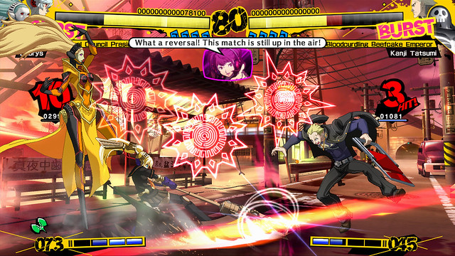 There's a lot going on in Persona 4 Arena