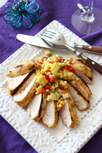 grilled curry kefir marinated chicken recipe with fresh corn salsa. Black Bedroom Furniture Sets. Home Design Ideas