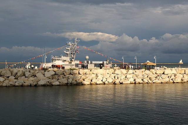 USS Hurricane docked at Pier Wisconsin