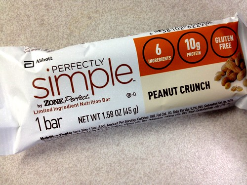 Perfectly Simple Zone Peanut Crunch bar
