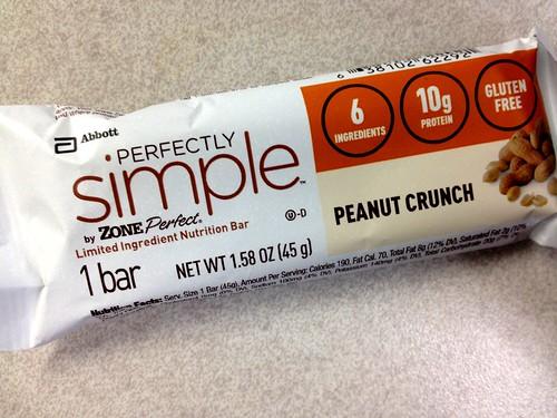 Perfectly Simple Zone Peanut Crunch bar