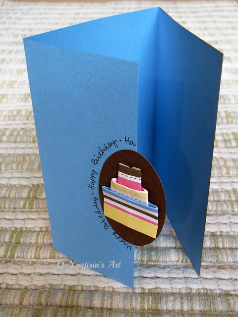 Origami cake birthday card