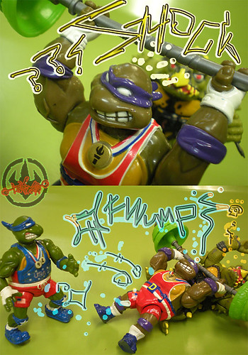 """TURTLE GAMES"" TEENAGE MUTANT NINJA TURTLES :: POWER LIFTIN' DON xx / ..power lift  (( 1992 ))"