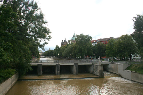 Maximiliansbrücke - Blick in Richtung Praterinsel & St. Lukas
