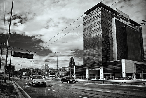 road city sky urban bw building film glass architecture clouds facade contrast reflections paper mono office airport highway boulevard cityscape conversion motorway sofia capital grain perspective istanbul route nostalgia bulgaria memory blacksea plovdiv eastbound toning emulation mladost софия maistora плиска магистрала изток svilengrad цариградскошосе булленин студентскиобщеития 4тикилометър