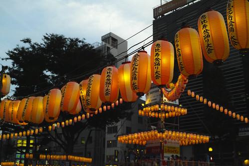 Japanese lantern of a festival